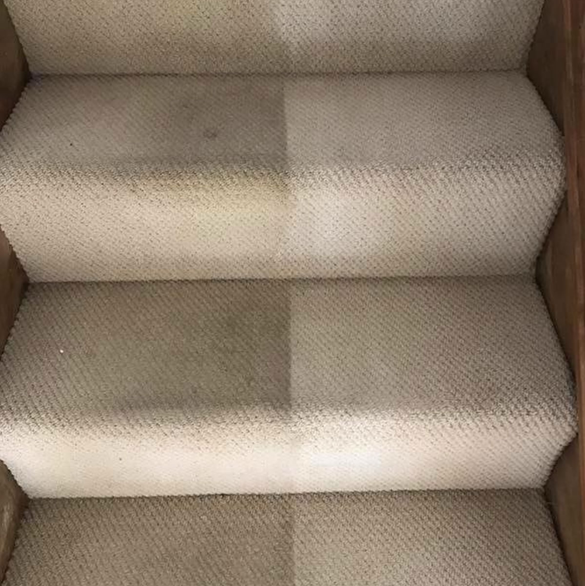 stairs carpet cleaning before after