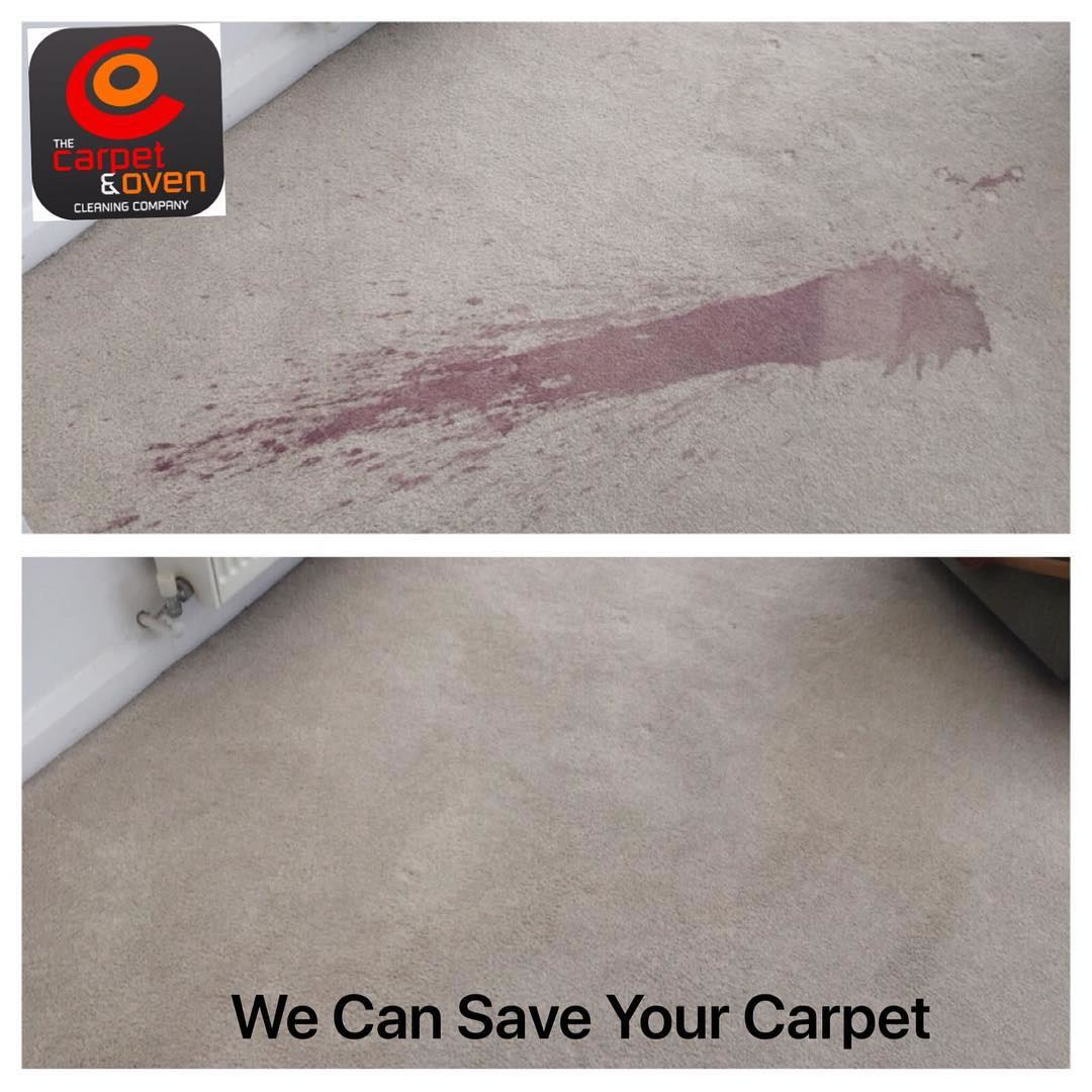 wine stained carpet frodsham