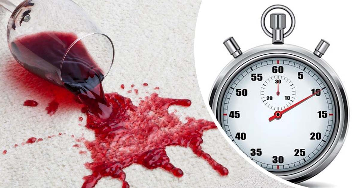 red wine spillage stop watch